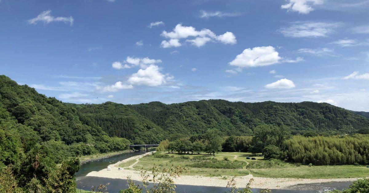 那須烏山市を流れる那珂川の清流